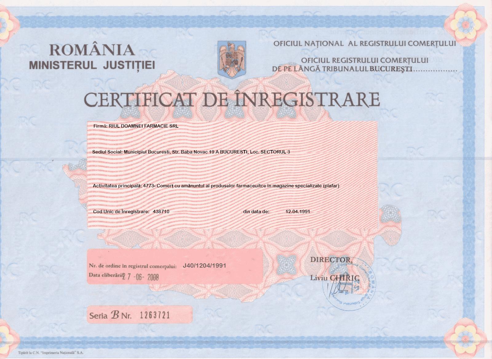 certificat-inregistrare